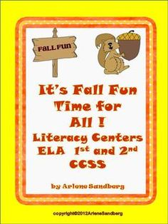 It's Fall Fun Time for All: Literacy Centers Grades Common Core Activities, Fun Fall Activities, Literacy Activities, Literacy Centers, Oo Words, Adjective Words, Making Sentences, Word Web, Fall Words