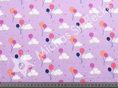 Michas Stoffecke - Stretchjersey Luftballone auf flieder S1-HM126132-3004