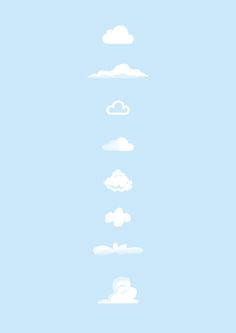 Famous Clouds...starring: iCloud, Simpsons, BBC weather, Soundcloud, Mario, Snoopy, Flintstones, Toy Story