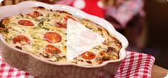 Quick and tasty, this crustless quiche is so easy to make. Delicious with a baked potato and salad, or cut into wedges and perfect for a pack-up or picnic.