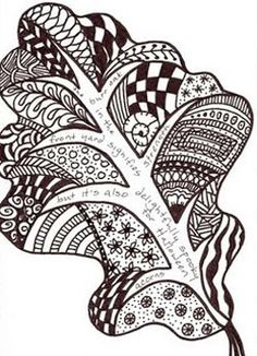Recently discovered Zentangles myself.  Love this leaf idea!