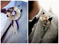 non-traditional DIY boutonnieres for your groom