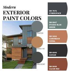 Exterior Paint Colors For House, Dream House Exterior, Paint Colors For Home, Outdoor House Paint, Outdoor Paint Colors, Exterior House Colors Combinations, Exterior Color Palette, House Color Palettes, House Color Schemes