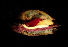 Scanner+Sandwiches=TRUE LOVE. This one looks especially tasty.. Salami, smoked mozzarella, artichoke hearts, & roasted red peppers on a baguette.