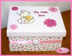 Resultado de imagem para caixa mdf decorada para bebe