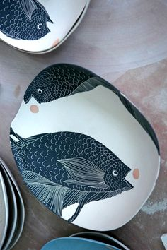 Major weakness for ceramics. Love the odd shape of the plate.
