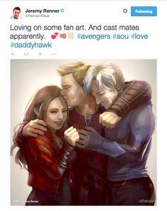 Avengers: Age of Ultron (Scarlet Witch, Hawkeye, Quicksilver) Marvel Jokes, Marvel Funny, Marvel Dc Comics, Marvel Heroes, The Avengers, Dc Memes, Fandoms, Jeremy Renner, Marvel Avengers