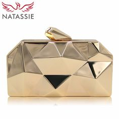 Look elegant with this Women Clutch Bag Metal Box Clutches Top Quality Hexagon Evening Bags Mini Party Purses Shape: ClutchMain Material: MetallicHandbags Type: Gold Handbags, Mini Handbags, Fashion Handbags, Brown Handbags, Clutch Handbags, Gold Purses, Brown Purses, Gold Clutch, Clutch Purse