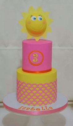 Sunshine cake Unique Cakes, Creative Cakes, Cupcake Cakes, Baby Cakes, Cupcakes, Cake Decorating Techniques, Decorating Ideas, Sunshine Cake, Cakes For Boys