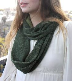 Merino Wool Infinity Scarf – Forest Green & Chartreuse