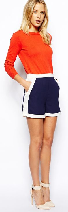 ASOS Shorts In Color Block http://rstyle.me/n/k3mynqcde