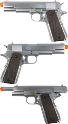 Pistol 160921: We-Tech Full Metal Colt 1911 Gas Blowback Airsoft Pistol Gbb- Silver -> BUY IT NOW ONLY: $109.99 on eBay!