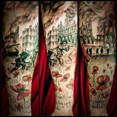 Wwii sleeve in progress americangypsytattoo ink wwiiart for Tattoo shops in salem ma