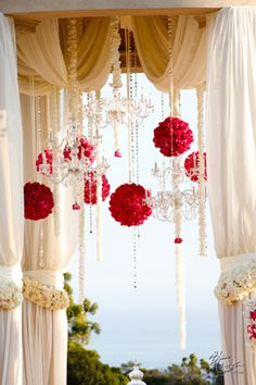 Nisie's Enchanted Florist - Wedding Florist Orange County hang rose balls from arch Rustic Wedding Decorations, Gazebo Decorations, Magical Wedding, Dream Wedding, Wedding Day, Wedding Reception, Wedding Designs, Wedding Styles, Wedding Colors