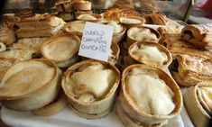 Award-winning Scotch pies for sale at the Sugar & Spice bakers in Auchterarder, Perthshire