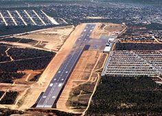 Cabo San Lucas Airport runway aerial view