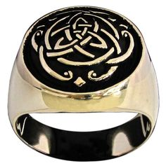 Celtic Infinity Knot Ring Thor Viking Symbol in Bronze                                                                                                                                                                                 More