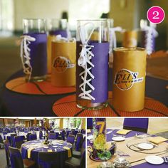 {Party of Adoption Shower, Lakers, Casino Dessert Stand, Wedding, & Bumble Bee // Hostess with the Mostess® Dessert Stand, Dessert Table, A Table, Dinner Recipes For Kids, Healthy Dinner Recipes, Kids Meals, Basketball Party, Basketball Wedding, Adoption Shower