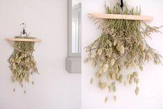 Fleurs séchées bricolage | support mural - happymondayblog