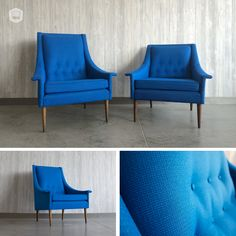 refinished & reupholstered mid-century, modern lounge chairs hutch has curated in Omaha, NE. www.facebook.com/hutchmodern