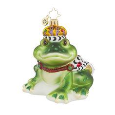 "Christopher Radko Frog Prince Ornament - ""Sir Hop-A-Lot"""