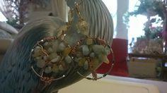 Larimar Topaz Tree of Life Dream Catcher Earrings are handmade by the Dreamcatcherman by DreamCatcherMan on Etsy