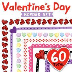 Clip Art: Valentine's Day Border Set - Borders for Persona
