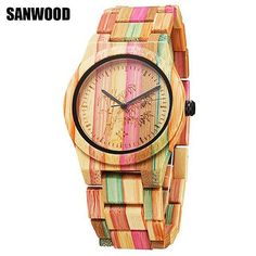 Gift Lover Cool Wristwatch Wooden Creative Strap Quartz-watch Casual Unisex Watch Wood Nature Bamboo