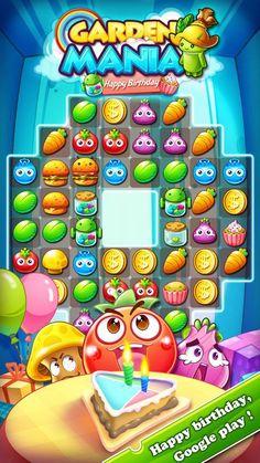 #gardenmania #androidgames #farm #iphonegames #ipadgames #match3 #matching…