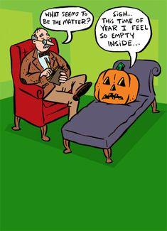 Empty Inside Halloween Card Cover