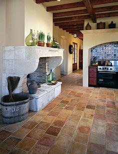 terra cotta floors for kitchen