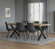 Rowico Brooklyn/Raymore- ruokailuryhmä 6-hengelle Dining Chairs, Dining Table, Office Desk, Brooklyn, Furniture, Home Decor, Desk Office, Decoration Home, Desk