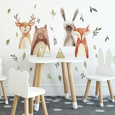 Buy the RoomMates Brown / Green Direct. Shop for the RoomMates Brown / Green Watercolor Woodland Critters Self-Adhesive Repositionable Vinyl Wall Decals and save. Woodland Room, Woodland Critters, Woodland Nursery Decor, Woodland Animals, Woodland Animal Nursery, Animal Theme Nursery, Fox Themed Nursery, Animal Wall Decals, Vinyl Wall Decals