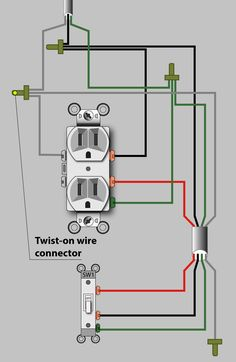 An Electrician Explains How to Wire a Switched (Half-Hot) Outlet - Dengarden Basic Electrical Wiring, Electrical Projects, Electrical Installation, 3 Way Switch Wiring, Outlet Wiring, House Wiring, Home Fix, Diy Home Repair, Arduino Projects