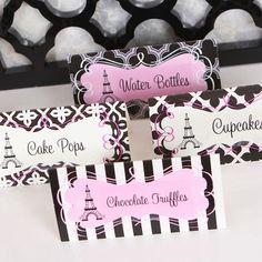 Parisian Paris Theme Bridal Shower Birthday Mod Party Decorations Kit | eBay