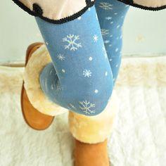 Romantic snow drop autumn and winter tights pantyhose $23.99