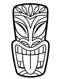 DIY totem Koh Lanta: simple and original ideas Tiki Tattoo, Hawaiian Tiki, Hawaiian Theme, Luau Theme, Luau Party, Totem Koh Lanta, Totem Tiki, Tiki Maske, Tiki Faces