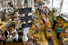 The food hall at Fallon & Byrne is a favourite with locals seeking carefully curated food, such as artisan chocolates, exotic salts, and organic fruits and veggies. Housed in a former telephone exchange building, it was converted to a food hall in 2006. (Photograph by Catherine Karnow)