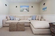 White & Blue Sofa Furniture with Pretty Interior Design at Modern Interior Concepts #InteriorDesign #Sofa