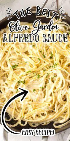 Shrimp Alfredo Sauce Recipe, Olive Garden Alfredo Sauce Recipe Copycat, Easy Homemade Alfredo Sauce, Make Alfredo Sauce, Homemade Sauce, Olive Garden Fettuccine Alfredo Recipe, Fetuccini Alfredo Recipe, Alfredo Sause, Best Alfredo Recipe