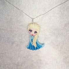 handmade elsa from frozen polymer clay people polymer. Black Bedroom Furniture Sets. Home Design Ideas