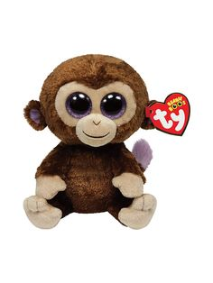 """Coconut The Monkey 6"""" Ty Beanie Boo   All Parties Decorations  Supplies for your Party"""