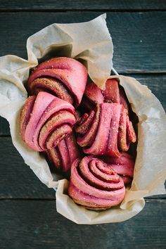 Your brunch could be pretty in pink with these Cinnamon Beet Rolls!