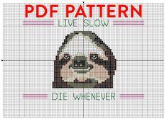 Hoi! Ik heb een geweldige listing gevonden op Etsy https://www.etsy.com/nl/listing/151610832/pdf-pattern-sloth-cross-stitch