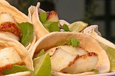Cajun-Style Calamari Steak Strips in Tortilla Cones