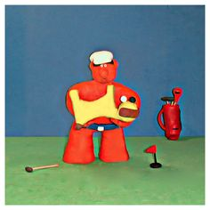 Bob had to just tap in his putt for his best ever scorewhen Scooby decided to pick the ball upAhhh #golf #fun #tips #golfing #golfwang #dog #art #artist #clay #bob_scooby #golflife #photo #creative #sculpture #artwork #doglover #polymerclay #picoftheday #artoftheday #cute #golftips