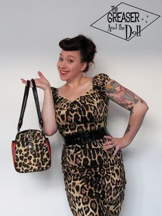 Leopard Dolores Dress by Collectif - The Greaser and the Doll