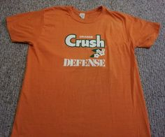 vintage 70's Orange Crush defense t shirt Denver Broncos XL I have one of these and wore it in high school for orange crush Friday before the super bowl