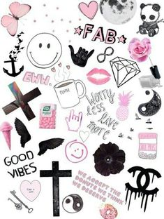 New Aesthetic Wallpaper Collage Computer 22 Ideas Tumblr Stickers, Phone Stickers, Diy Stickers, Planner Stickers, Cute Wallpaper For Phone, Emoji Wallpaper, Tumblr Wallpaper, Tumblr Drawings, Girly Drawings