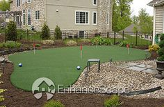 Oh how nice it would be to have a putting green in my backyard!